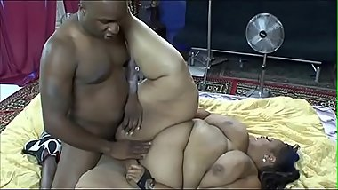 Black stud getting his huge hard dick sucked by chubby slut Farrah Foxx after licking pussy
