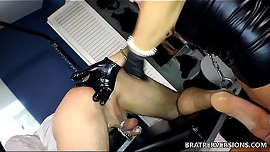 Prostate Play with a Mature Domina