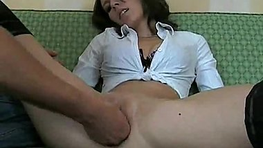 Petite amateur babe brutally fisted till she orgasms