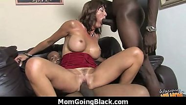 Huge Black Meat Going into Horny Mom 15