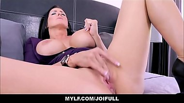 Your Big Tits MILF Step Mom Finds Porn On Your Phone And Masturbates With You JOI POV