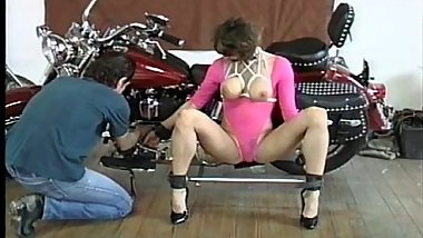 Sexy brunette MILF Kathy is bound
