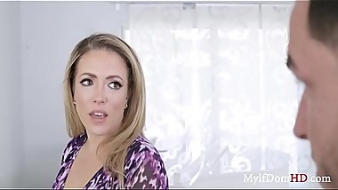Nosy MILF Fucked For Some Tea- Carmen Valentina
