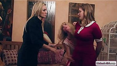Milf licks stepsis and stepdaughter