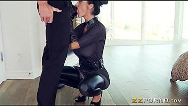 Busty Ava Addams in uniform screwed up with a hard shaft