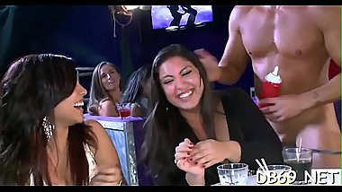 Beautiful hottie gets fucked in front of her friends.