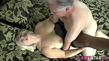British grandmother Lacey Starr pussy eaten