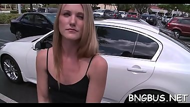 Alluring babe is given a randy and excited sex offering