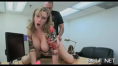 Attractive mama enjoys getting fingers and shlong in vagina