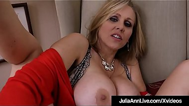 Sensual Milf Julia Ann Fucks Herself With Fat Dildo!