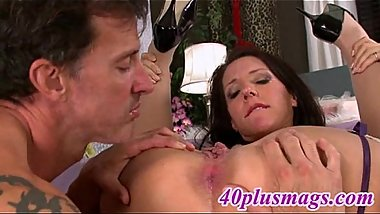 49yo brunette pussy and ass licked