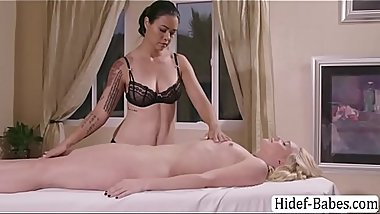 MILF Masseuse enjoys eating AJs pussy