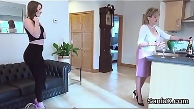 Cheating british milf lady sonia presents her monster boobies