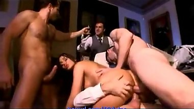 Bad naughty girl really knows how to start an orgy /99dates