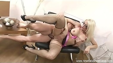 Blonde With Glasses Anal Ride