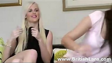 Brunette British mature woman lesbian sex with blonde