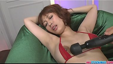Tiara Ayase in sexy lingerie wild toy insertion