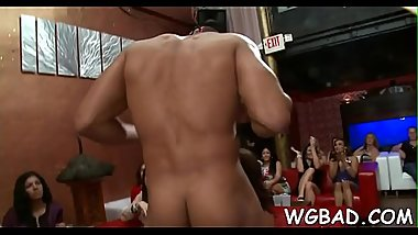 Raunchy blowjob with strippers