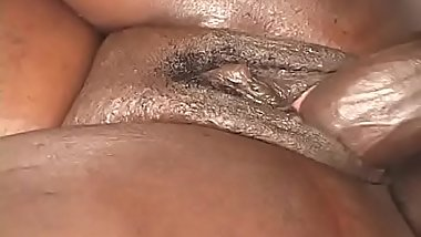 Well graced busty black model love to be fucked lying on the one side