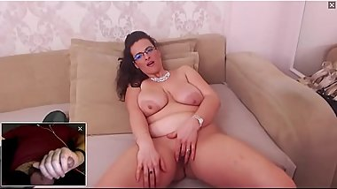 Beautiful and Sexy BBW Milf Masturbating and Watching Me Cum on Cam