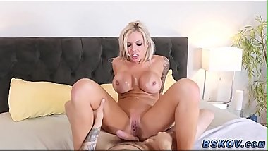 Big tit milf riding and sucking
