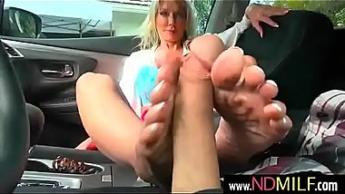 Tylo Duran busty milf give instructor a feetjob