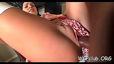 Whore feels how man enters her holes by his throbbing knob