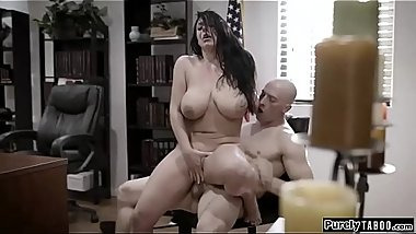 Busty woman fucked by corrupt businessman to keep her secret