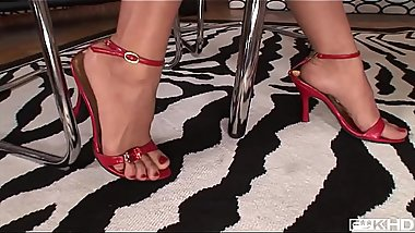 Intense interracial foot fucking porn with leggy babes Jasmine Webb &amp_ C.J.