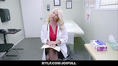 Your Blonde MILF Big Tits Doctor Wants To Masturbate With You JOI POV
