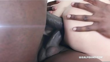 First anal &amp_ first black cocks for kinky bitch Julia North IV334