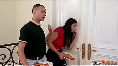 FILTHY FAMILY - Stepmom Julianna Vega Gets Interrupted During Sex By Her Step Daughter And Son!
