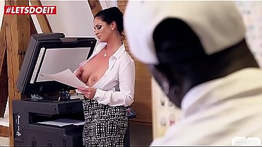 LETSDOEIT - Horny German Milf Gets Abused by Janitor'_s BBC